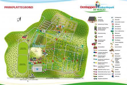 plattegrond oostappen vakantiepark de berckt ism makelaars