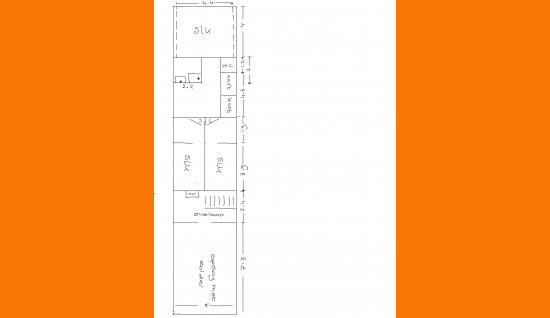 Plattegrond 1e verd. Dorpsstraat 60 wemeldinge ism makelaars