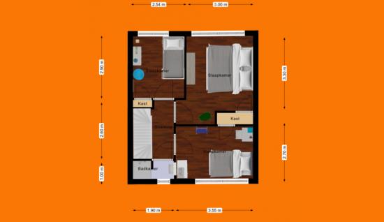 1e verdieping dijkwelsestraat 54 kapelle ism makelaars