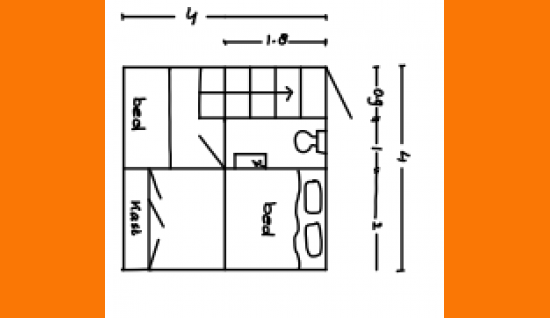 plattegrond 1e verdieping het smallegange 7 kortgene ism makelaars