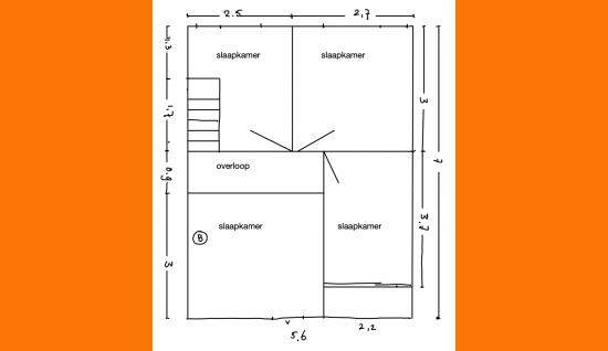 plattegrond 1e verdieping veerweg 11 wolphaartsdijk ism makelaars