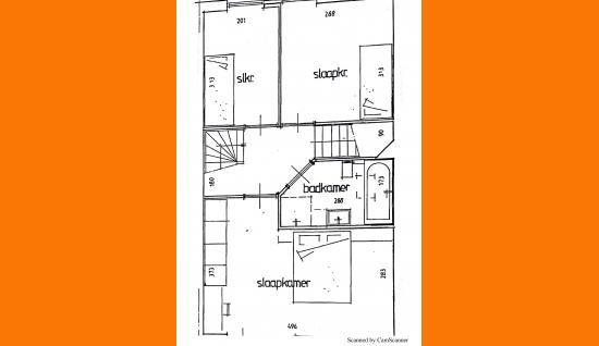 plattegrond 1e verdieping j.vaderstraat 25 meliskerke ism makelaars