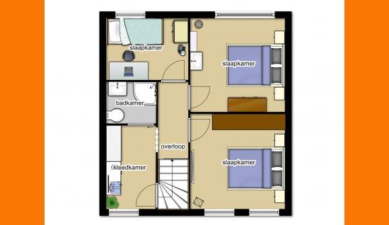 plattegrond 1e verdieping (bestaand) van walenburghof 5 wolphaartsdijk ISM Makelaars