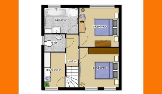 plattegrond 1e verdieping (optie verbouwing) van walenburghof 5 wolphaartsdijk ISM Makelaars