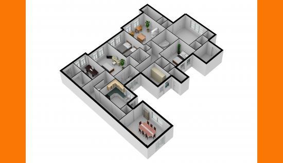 3d plattegrond bgg damstraat 19 yerseke ISM Makelaars