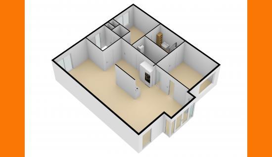 3d plattegrond Sandenburghlaan 12e Veere ISM Makelaars