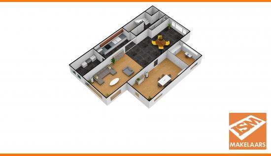 3d plattegrond middelburgsestraat 98 koudekerke