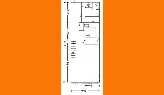 plattegrond bgg Lewestraat 56 kloetinge ism makelaars