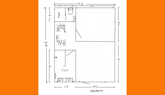 1e verdieping plattegrond middelburgsestraat 98 koudekerke