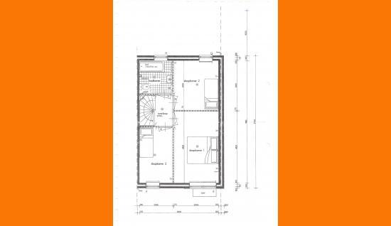 plattegrond eerste verdieping molenmeet 11 kruiningen
