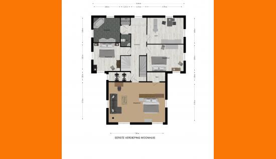 1e verdieping woonhuis plattegrond de spaier 3 zoutelande ismmakelaars