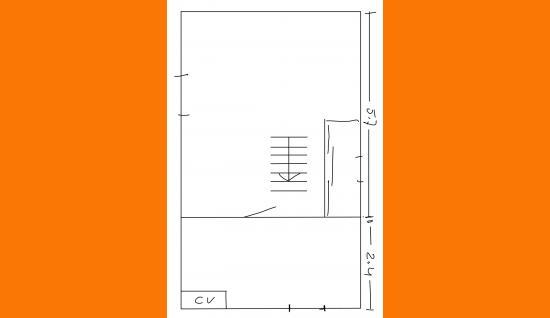 plattegrond 1e verdieping Kuijerdamseweg 43 Scharendijke ism makelaars