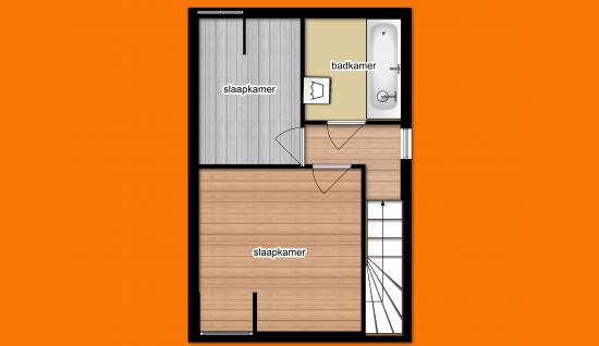 plattegrond eerste verdieping lammensstraat
