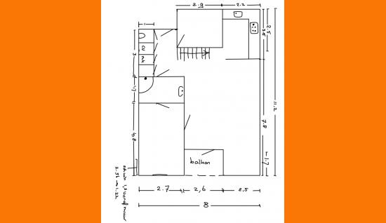 plattegrond 1e verd. beenhouwerssingel 27 middelburg ism makelaars