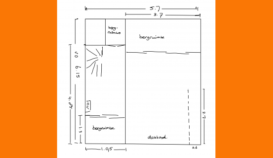2e verdieping plattegrond middelburgsestraat 98 koudekerke